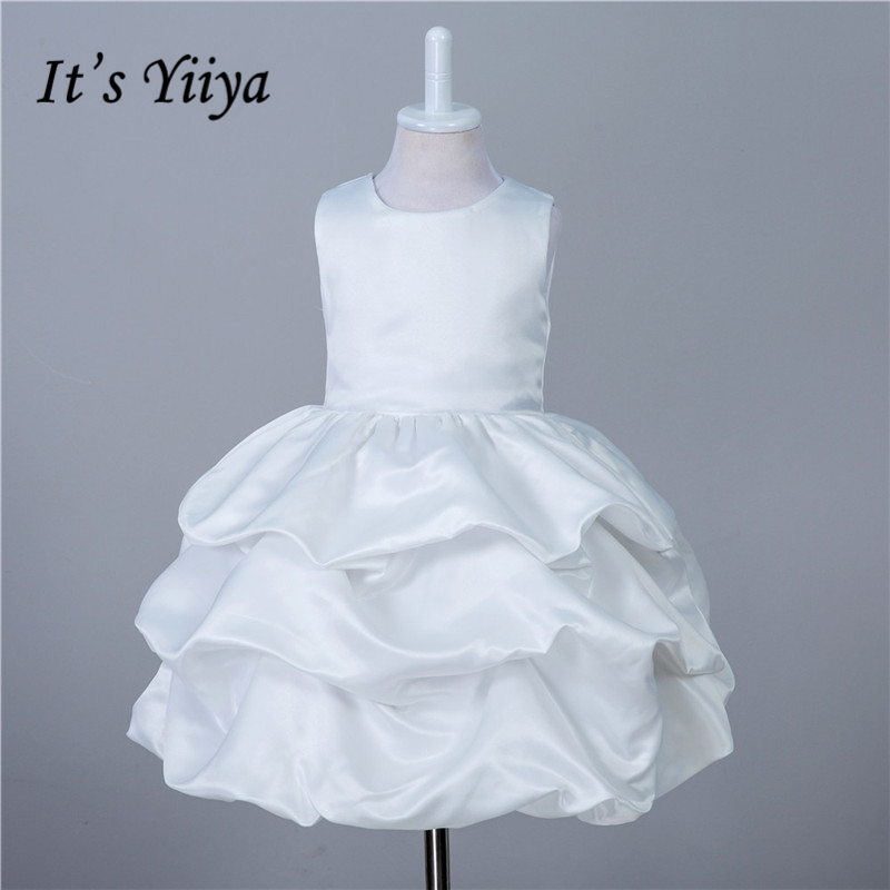 It's yiiya Fashion Pleat   Flower     Girl     Dresses   Many Colors Princess Ball Grown O-neck Sleeveless   Girls     Dress   TS133