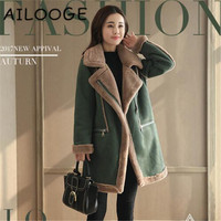 2019 Wool Coat Winter Women Woolen Long Cotton Cardigan Jackets Elegant Blend with Soft Nap Women Coats