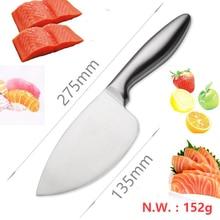 Free Shipping LD stainless steel kitchen knife salmon sashimi raw fish fillet chef cooking knives Sashayed gift