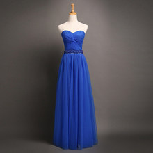 robe demoiselle d honneur 2018 new Tulle Beading A-Line Royal Blue  bridesmaid dresses long cheap bridesmaid dresses under 50 32ab21e18317