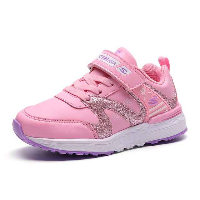 HOBIBEAR Sport Children Shoes For Kids Sneakers Girls Casual Shoes Running  Trainers School Footwear Anti-Slippery Fashion Pink 42f59cab49c4