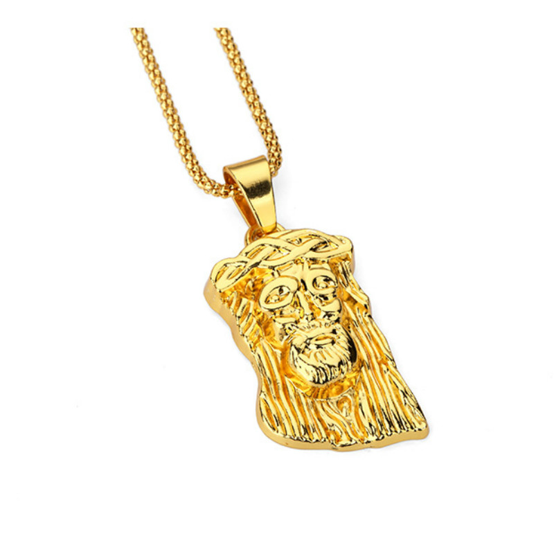 Jesushead gold pendant necklace hip hop supreme bar brick jewelry jesushead gold pendant necklace hip hop supreme bar brick jewelry long pendant necklaces gold chain unisex hipster christmas in pendant necklaces from mozeypictures Choice Image
