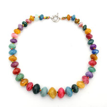 Natural Stone Beads Necklace Crystal Agate Beads Choker Candy Necklace Women Jewelry for Mother's Day Gift Birthday Party Gift(China)