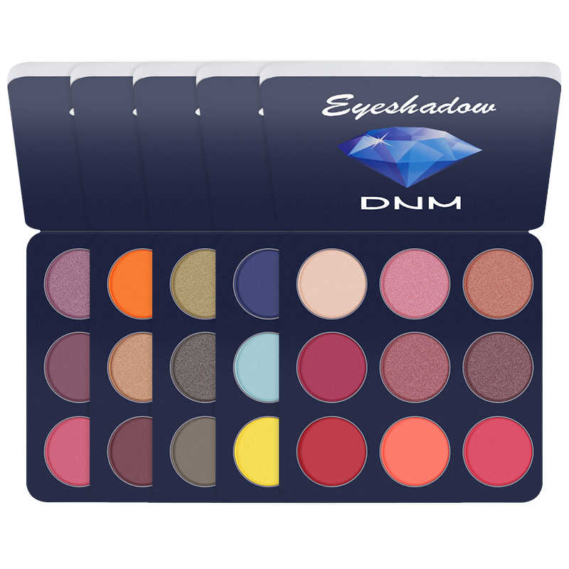 อายแชโดว์ Palette 9 สี Make up Matte Waterproof Long-Lasting Smoky Shimmer สี Eye Shadow Palette Maquillage TSLM1