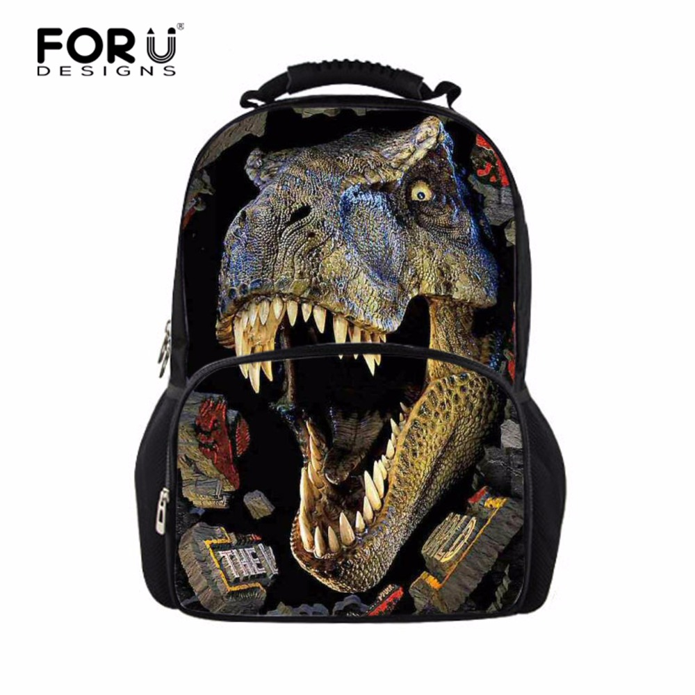 Designer Large 3D Dinosaur School Backpacks for Children Men Printing Tourism Bag Women Leopard Backbag Fashion