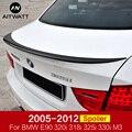 Для BMW 3 серии E90 320i 318i 325i 330i M3 спойлер 2005-2012 автомобильный ABS пластик Неокрашенный праймер задний багажник загрузки крыло спойлер