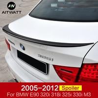 For BMW 3 Series E90 320i 318i 325i 330i M3 Spoiler 2005 2012 Car ABS Plastic Unpainted Primer Rear Trunk Boot Wing Lip Spoiler