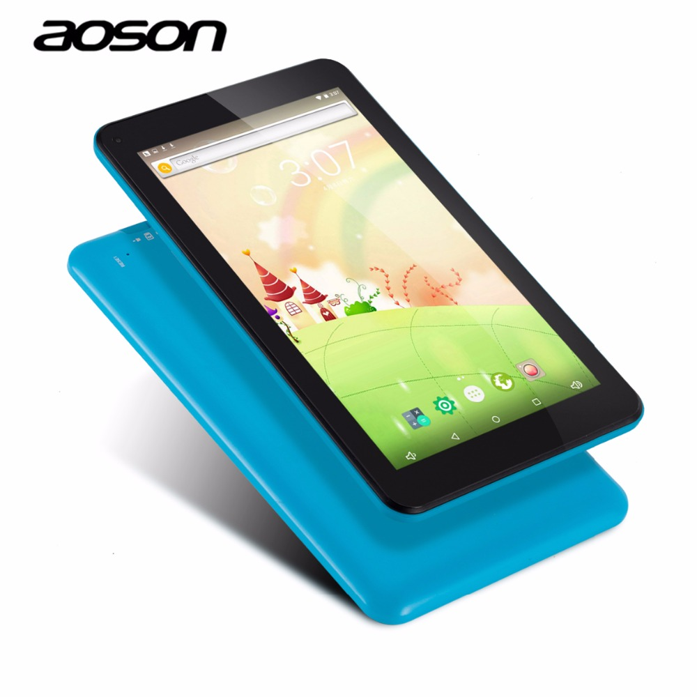 Brand Aoson M753 7 inch Android 6.0 Kids Tablet PC IPS 16GB/1GB Bluetooth WIFI with Parental Control Software Candy Blue Color car charger for tablet pc cube u10gt u10gt2 aoson m19 more black dc 9v