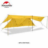 Naturehike Outdoor Camping Twin Peaks Sun Shelter Large Canopy Rainproof Tent Sun Shelter Windproof Large Space Awning 2 Colors