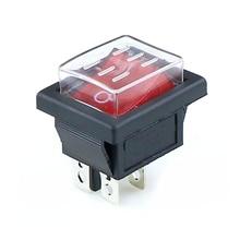 KCD4 1 шт. кулисный переключатель питания+ прозрачный водонепроницаемый мягкий уплотнительный колпачок ВКЛ-ВЫКЛ 4 Pin 16A 250VAC/20A 125VAC
