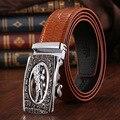 Cinturones de diseñador hombres de alta calidad de cuero de vaca correa de cuero genuina de cocodrilo logo mens cinturones de lujo ceinture homme masculina correa PD082