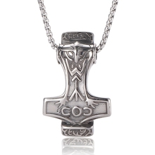 Anchor amulet pendant necklace viking scandinavian norse with stainless steel chain BB0425