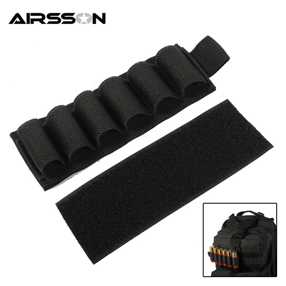 1000D Portable Shell Reload Strip Shotgun Bullet Pouch Ammo Carrier Airsoft Tactical Hunting Rifle 5 Shells Cartridge Holder
