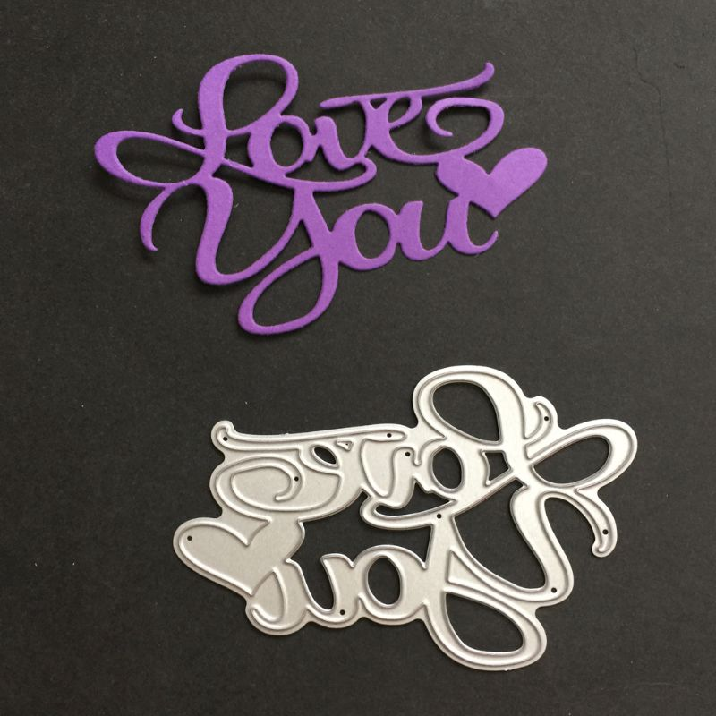 Love You Cutting Dies Stencil DIY Scrapbooking Album Paper Card Embossing Craft