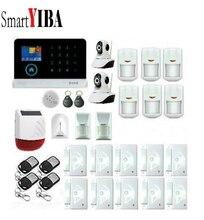 SmartYIBA 3G Wireless Wifi Alarm Security System Network IP Camera Wireless Alarm Solar Siren Glass Break