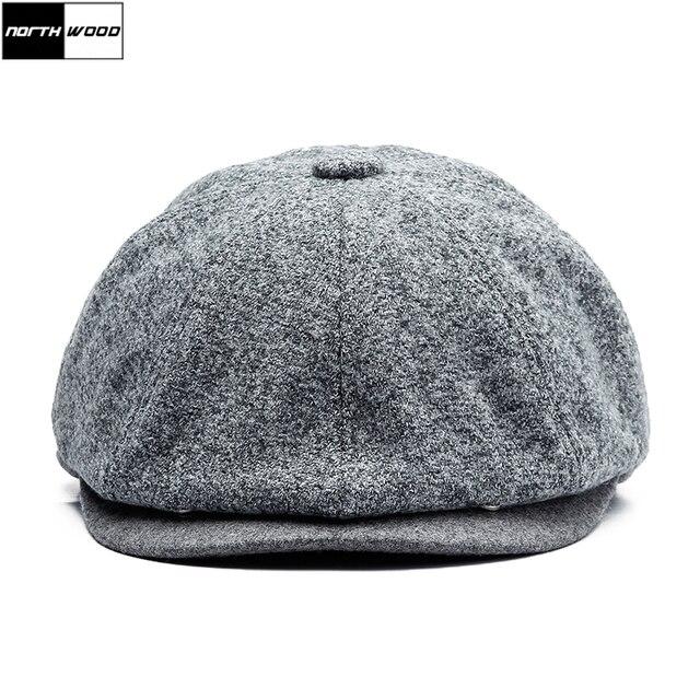 72bc043a976ba  NORTHWOOD  High Quality Winter Beret Hat Warm Flat Cap For Men Boina  Feminina Beret Homme Wool Berets