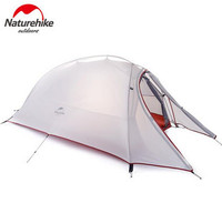 Naturehike Tent 20D Silicone Fabric Ultralight 2 Person Double Layers Aluminum Rod Camping Tent 4 Season With 2 Person Mat