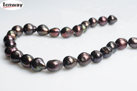 Natural Freshwater Pearl Red Black 12 15mm Baroque For Jewelry Making 15inches DIY Necklace Bracelet FreeShipping
