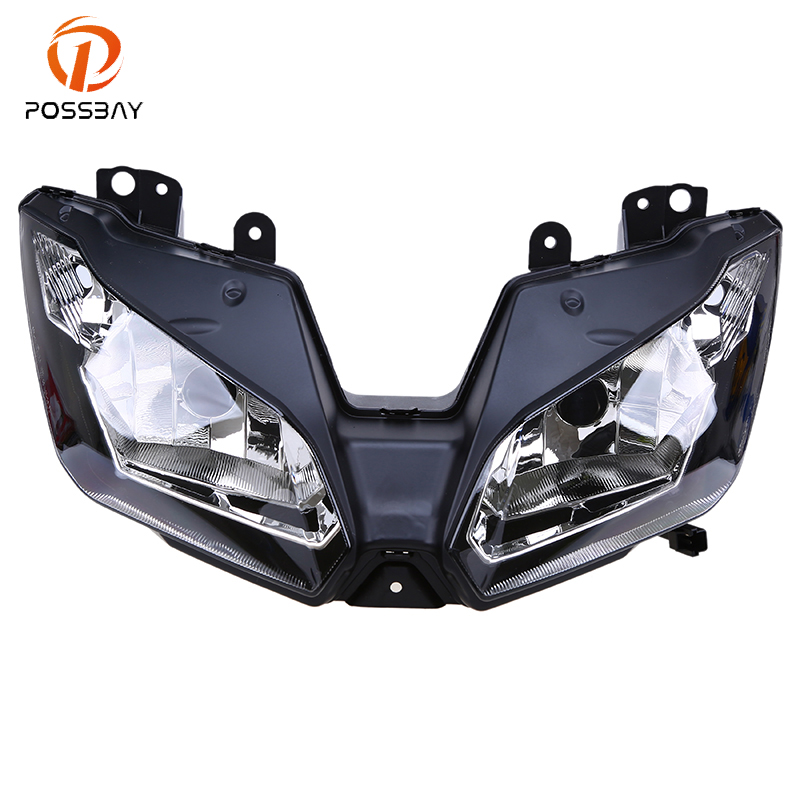Possbay Motorcycle Headlights Housing Assembly Front Head Light