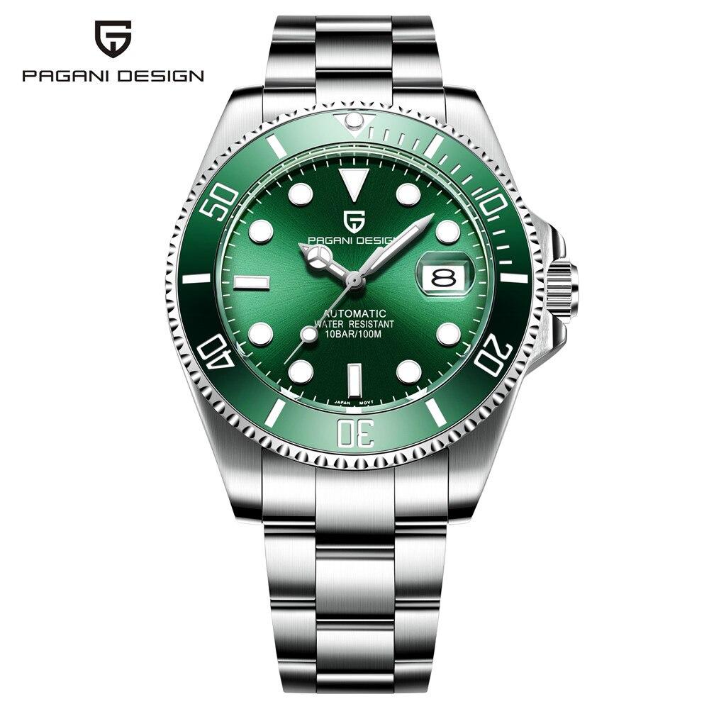 PAGANI Design Brand Luxury Men Watch Mens Automatic Mechanical Watches Male Business Waterproof Steel Wristwatch relojes
