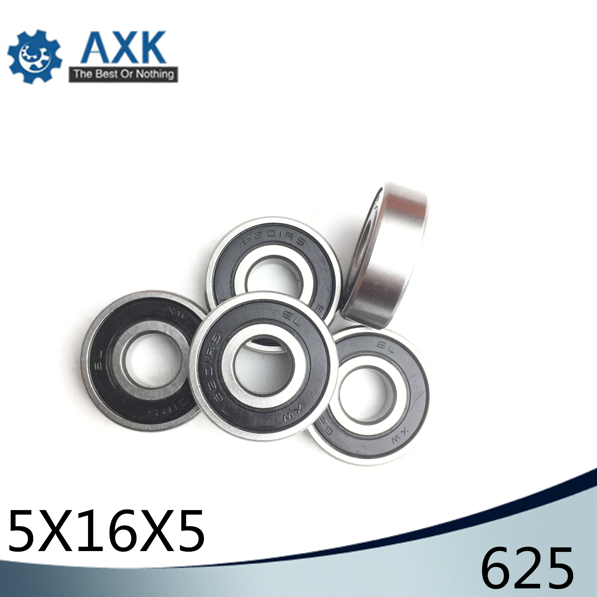 625 Hybrid Ceramic <font><b>Bearing</b></font> <font><b>5*16*5</b></font> mm ABEC-1 ( 1 PC) Industry Motor Spindle 625HC Hybrids Si3N4 Ball <font><b>Bearings</b></font> 3NC 625RS image