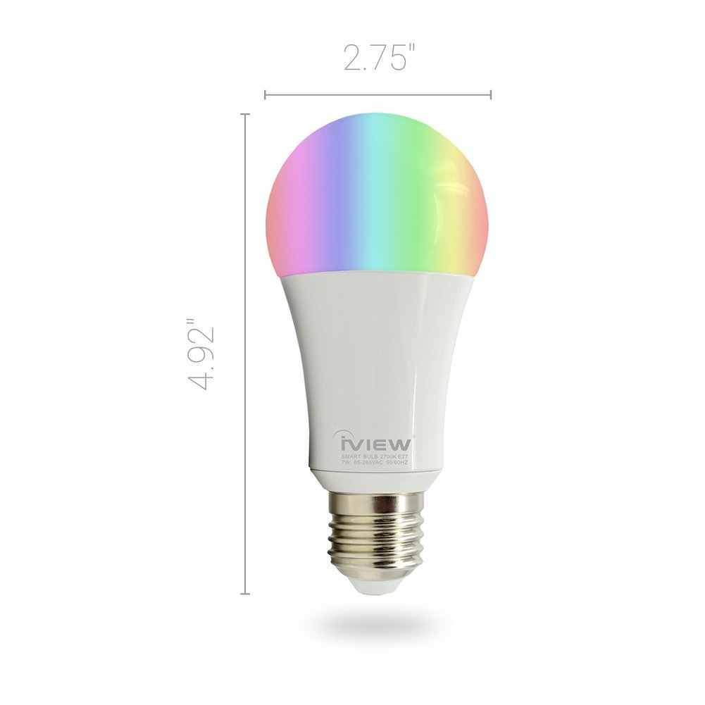 DSHA-ISB600 WiFi Smart LED Bombilla, multicolor, dimmable, sin repetidores, libre APP control remoto, compatible con Amazon Alexa un