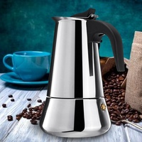 Stainless Steel Wide Bottom Home Coffee Pot Moka Espresso Maker Percolator Stove Coffee Maker Coffee Kettle