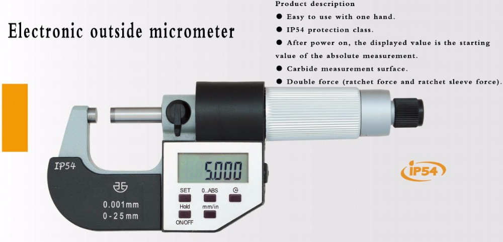 Electronic Outside Micrometers 0-25mm 0-1inch 132-01-040Electronic Outside Micrometers 0-25mm 0-1inch 132-01-040