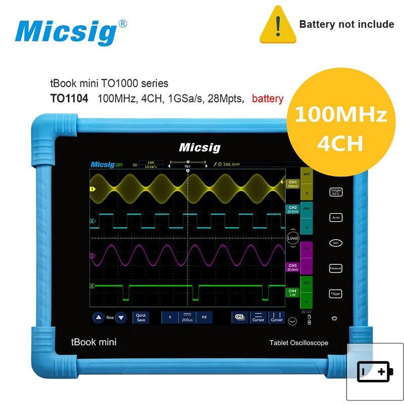 Digital Tablet Oscilloscope TO1104 100MHz 4CH 28Mpts Automotive diagnostic oscilloscope touchscreen