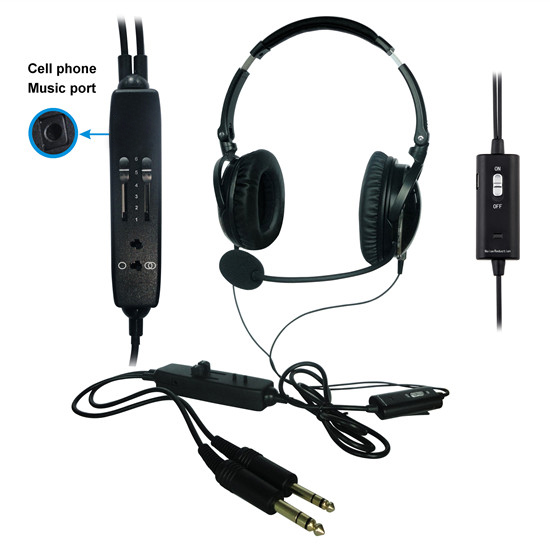 NEW ANR aviation headset AH 6000 The lightest ANR pilot headset in the world with great