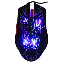 USB Wired 2000DPI Adjustable 6 Buttons Gaming Mouse LED Backlit Game Mouse Optical 2.4G Computer Mice PC Gamer Mice for Laptop