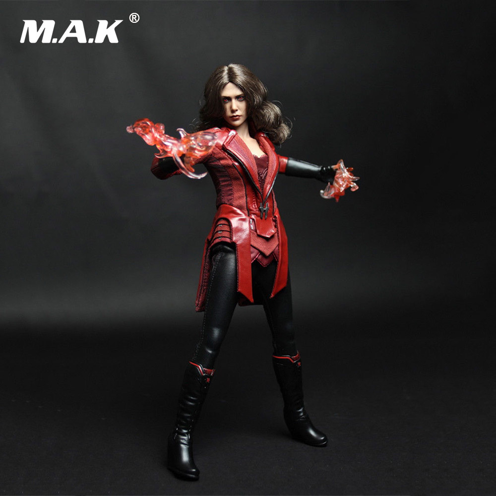 DIY 1/6 Scale The Avengers Scarlet Witch Clothing Suit with Accessories No Included Body & Head for 12'' Female Action Figure 1 6 female head for 12 action figure doll accessories marvel s the avengers agents of s h i e l d maria hill doll head sculpt