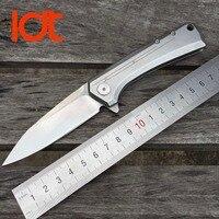 LDT ZT 0808 Folding Blade Knife D2 Blade Steel Handle Ball Bearing Tactical Knife Outdoor Camping