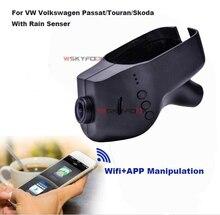 Cámara del coche DVR Grabador de Vídeo WiFi APP Manipulación Novatek 96655 IMX 322 Dashcam Para Volkswagen Skoda/Passat Con Lluvia Senser