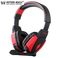 5pcs KOTION EACH G4000 USB Stereo Gaming Headphone For PC Noise Cancellation Gaming Headset Music Earphone