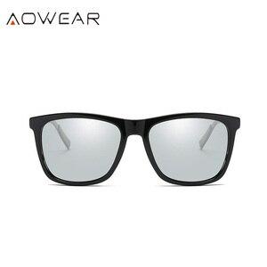 Image 2 - AOWEAR квадратные очки Хамелеона, женские поляризационные фотохромные солнцезащитные очки HD для вождения, Винтажные Солнцезащитные очки для мужчин и женщин
