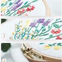 Bouquet de fleurs de broderie Couture Point de croix avec cadre de cerceau pour débutant Swing Art peinture artisanat cadeau de mariage 8