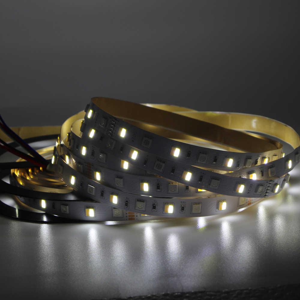 5 M LED bande lumière RGB CCT RGBW 5050 SMD LED bande 12mm Non LED étanche bande barre lumière chaîne vacances décoration lumières 12 V