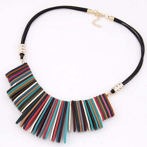 Good Quality Jewelry 2016 Europe Pop Collier Tassel Elegant Statement Necklace Retro Cho ...