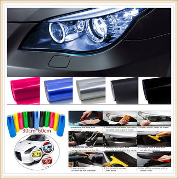 Car HeadLight Light Decor Vinyl Film Sticker Decal for Volkswagen VW POLO Golf 4 Golf 6 Golf 7 CC Tiguan Passat B5 image