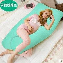 Contorneado cuerpo Almohadas Almohada Para Dormir Embarazo Vientre de Maternidad En Forma de U Almohada 5 colores