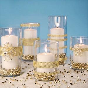 Image 5 - 12 см * 91,5 см блестящая сетка рулон с алмазами событие Единорог вечерние свадебные украшения для дня рождения DIY стола торт обертывание ленты с кристаллами тюль