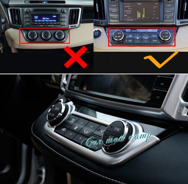 Charming For Toyota RAV4 RAV 4 2014   2017 ABS Matte Interior Air Condition Adjust  Button Frame