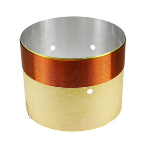 Image 5 - GHXAMP 77mm Woofer Bass Voice Coil With Venting Hole White Aluminum 2 layer Round Copper Wire Repair Parts 2PCS