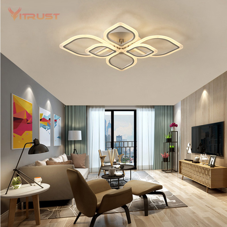 Simple Stylish LED Ceiling Light Acrylic Ceiling Lamp Modern Surface Mount Lighting Fixture for Bedroom Living Room AC110-240V round thin iron acrylic geometry ceiling light fixture surface mounted modern simple plafon lamp for hallway bedroom living room