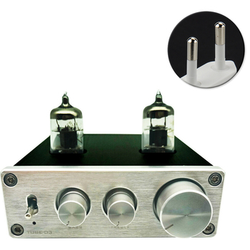 HIFI Vacumn Mini Adjustable RIAA Phono 6J1 Tube Home Aluminium Turntable Headphone Pre Amplifier Preamp Universal