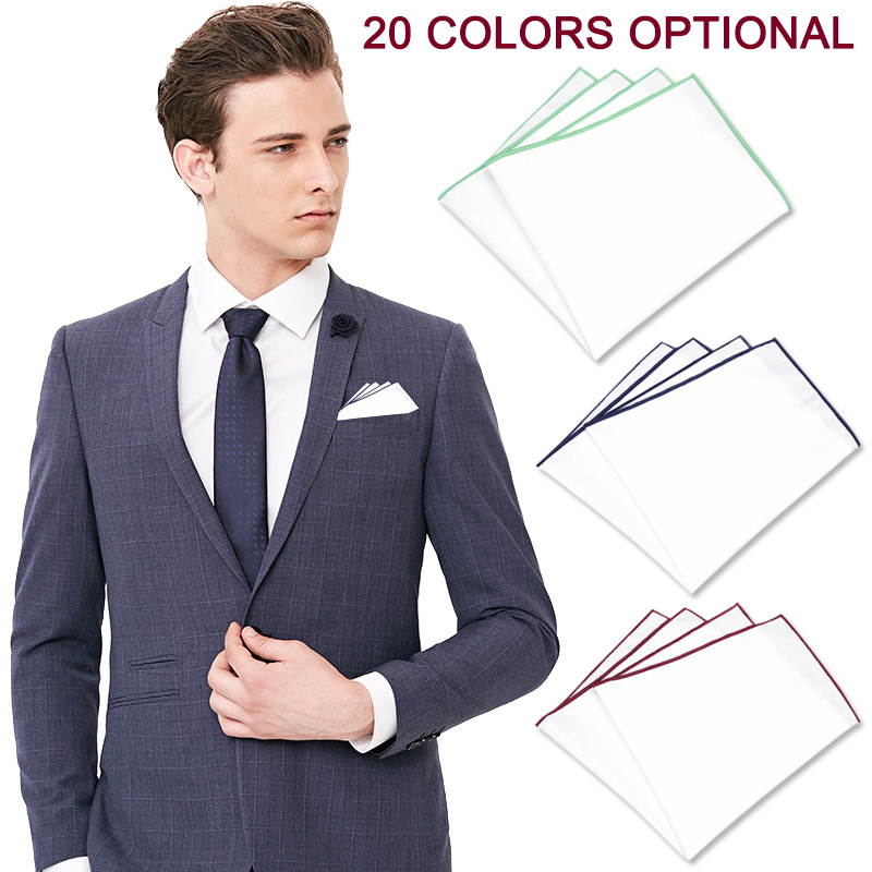 Men Pocket Square Handkerchief Hanky Cotton Fashion For Wedding Party Groom Suit LL@17