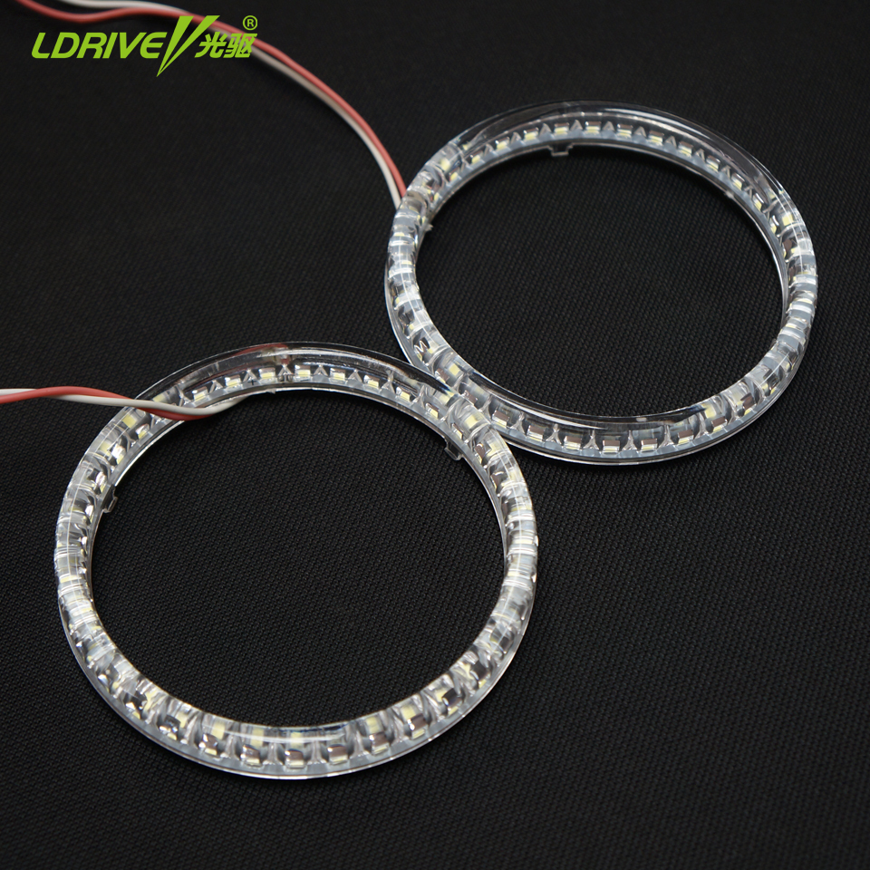 2PCS Auto Car Styling 3014 SMD LED Halo Rings 95mm Angel Eyes White LED SMD Angel Eyes Headlight Super Bright LED Fog Light universal fit xenon white headlight smd 3014 led angel eyes halo rings kit for bmw honda vw ultra bright car angelic eyes rings