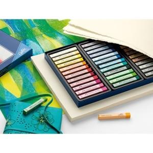 Image 5 - Faber Castell Pastel Stick 12/24/36/48/72 Colors Dyed Chalk Wax Colors Blue Box Oil Pastel Crayon Soft Pastel Blando For Art