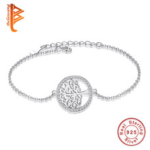 Brand New 925 Sterling Silver Charm Bracelet Tree of Life Cubic Zirconia Bracelets & Bangles for Women Wedding Jewelry Party(China)